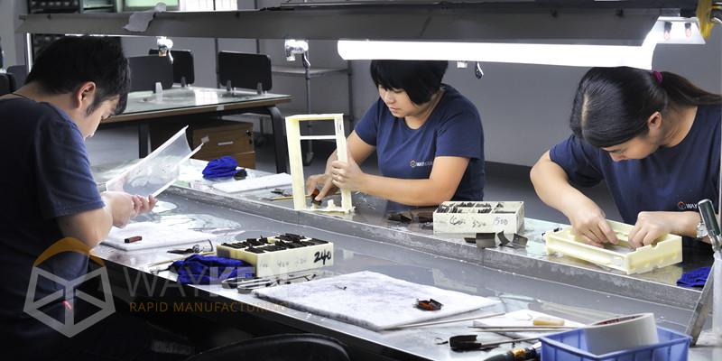 plastic machining - manual finishing
