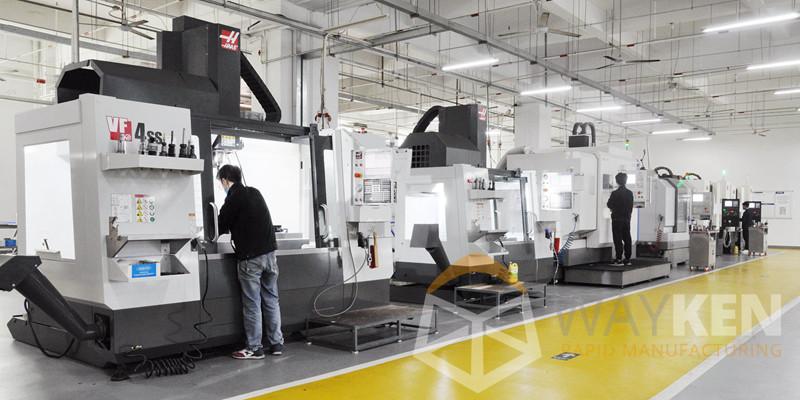 CNC machine shop of WayKen Rapid